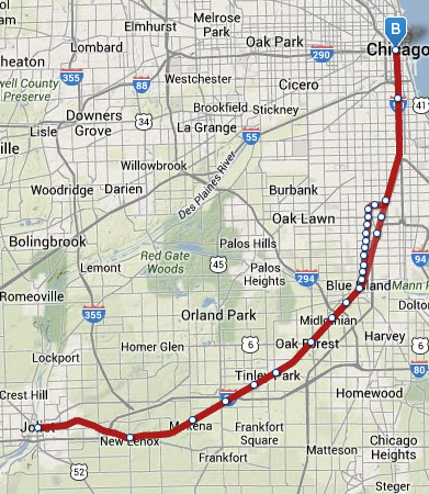 Metra - Rock Island Map